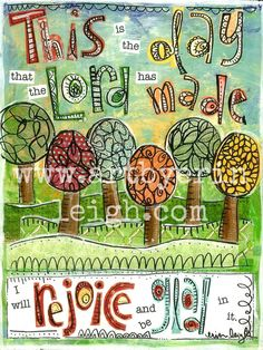 Kids Scripture Art, Sunday School Songs: This is the Day, 8 x 10 Fine Art Print, Mixed Media Collage via Etsy