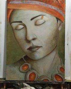 Penultimate stage #art #artist #artwork #painting #portrait #beautiful #paint #oilpainting #almazzaglia #artnews #coulorful