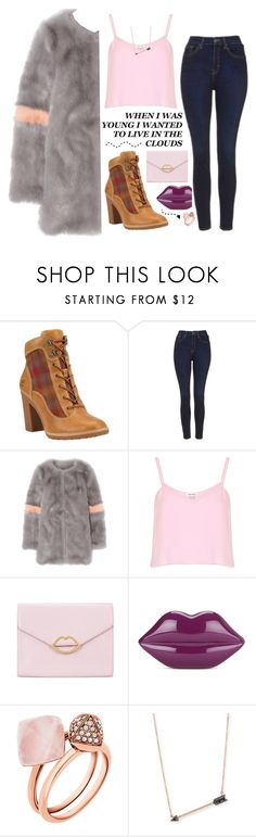 """""""ART °56"""" by courageousmind ❤ liked on Polyvore featuring Timberland, Topshop, Shrimps, River Island, Again, Lulu Guinness, Michael Kors and Sydney Evan"""