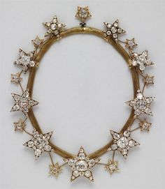 Star Necklace Antique.