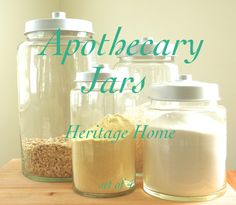 Apothecary Jars — Heritage Home.