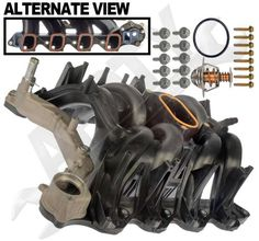 APDTY 726299 Intake Manifold Assembly w/Gaskets & Thermostat Ford Engine Performance Parts, Ford Trucks, Engineering, Plastic, Vans, Ebay, Van, Ford