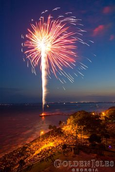 What a beautiful setting to watch the 4th of July fireworks! St. Simons Island, part of Georgia's Golden Isles.  www.GoldenIsles.com
