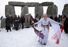 Celebrating Yule, the Winter Solstice: Druids celebrate the winter solstice each year at Stonehenge.