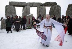 Celebrating Yule, the Winter Solstice: Druids celebrate the winter solstice each year at Stonehenge.