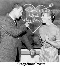 """Our Miss Brooks"" ~ Eve Arden, Gale Gorden, Robert Rockwell & Richard Crenna 1948-1957 (Began on Radio w/Jeff Chandler as Mr. Boynton)"