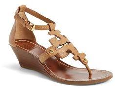 Tory Burch 'Chandler' Wedge Leather Sandal (Women)