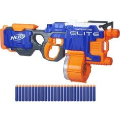 Nerf N-Strike Elite HyperFire Blaster Nerf guns are fun for single players or multiple players. Even adults like to get in on the fun. There's a Nerf toy that landed on Walmart's Hottest 25 Toys of 2016 list. The Nerf … Continue reading → Toys R Us, Toys For Boys, Kids Toys, Arma Nerf, Pistola Nerf, Cool Nerf Guns, Nerf Darts, Nerf Toys, Mega Pokemon