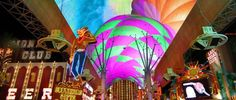"""The Fremont Street Experience - down in the """"old"""" part of Las Vegas, really neat light show over the street, lots of shops, casinos, a neon museum as well as a zipline ride. A fun night - and a must see..."""