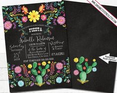 Mexican Fiesta Girl, Boy Baby Shower Invitation Cinco De Mayo Flowers Chalkboard Background Gender Neutral, Digital or Printed, I customize Etsy Cards, Chalkboard Background, Beautiful Baby Shower, Diaper Raffle Tickets, Baby Shower Invitations For Boys, Easy Peasy, Gender Neutral, Baby Boy Shower, Cinco De Mayo