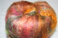 ART Batt Autumn Fires 3.5 oz Textured spinning by Pennylynnj