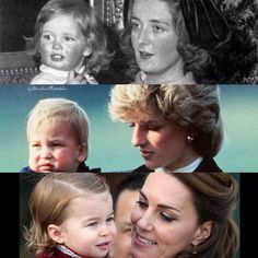 Princess Diana and her mummy Prince William and his mummy Princess Charlotte and her mummy • •