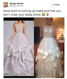 Teens Are Sharing Hilarious Photos Of Their Prom Dress Fails And It's Pretty Amazing Order Dresses Online, Dress Online, Prom Dress Fails, Online Shopping Fails, Shopping Apps, Clothing Fails, Fashion Fail, Cosplay Dress, Beautiful Prom Dresses