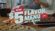 Pizza Hut Flavor Menu Ad