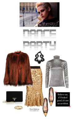 """""""Come dance with me"""" by iriadna ❤ liked on Polyvore featuring Dries Van Noten, Dolce&Gabbana, Marni, Prada, Kenneth Jay Lane, dolceandgabbana, metallic, fauxfur, danceparty and goldandsilver"""