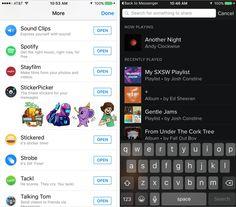 Messenger Spotify Search