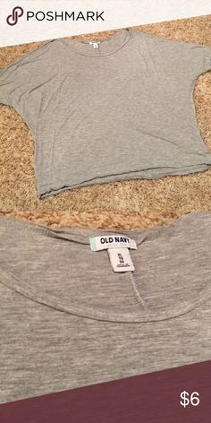 Gray Top Good condition. Runs a tad small. Old Navy Tops Blouses