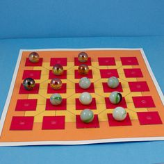 Alquerque game board for marbles