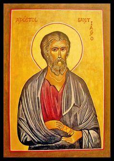 이콘속에서ㅡ 영어로는 Saint James 이태리어로는 San Giacomo 에스파뇰로는 Santiago ㅡ우리가 흔히 듣던 산티아고는 '성야고보의 길'이라는 뜻이라 할 수 있겠습니다.