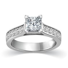 3/4 ct tw I I1 Princess Cut Diamond Cathedral Accent Engagement Ring 14K White Gold Glitterati http://www.amazon.com/dp/B00O1QG74M/ref=cm_sw_r_pi_dp_0BZHub12RNYT7