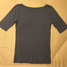 Ann Taylor Cotton Boatneck Short Sleeve Tee Softened blue. 100% cotton. Ann Taylor Tops Tees - Short Sleeve