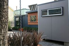 shipping container conversion - I like the exterior on this container house.