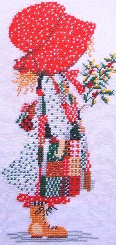 holly hobbie cross stitch pattern free - Google Search