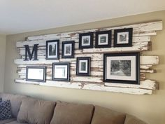 Classy rustic wall decor -- another great idea to add interest in the dining room!