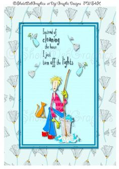 Joy of Housework - Cleaning Lights A4 Sheet (PU,S4H)