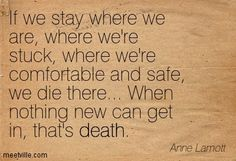 Anne Lamott: If we stay where we are, where we're stuck, where we're . Quotable Quotes, Me Quotes, Qoutes, Belief Quotes, Anne Lamott, Famous Author Quotes, Writers And Poets, Thought Process, Note To Self