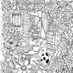 Mein Sommerspaziergang: Ausmalen und durchatmen: Amazon.de: Rita Berman: Bücher House Colouring Pages, Cat Coloring Page, Animal Coloring Pages, Coloring Pages To Print, Coloring Book Pages, Coloring Sheets, Coloring Pages For Kids, Free Adult Coloring, Printable Adult Coloring Pages