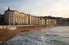 Playa de la Concha de San Sebastian - Donostia. Pais Vasco. Basque Country