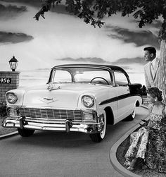 Chevrolet Bel-Air Black and White