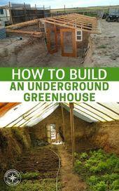 Garden Types How To Build an Underground Greenhouse #garden #gardentypes #gardening #yard