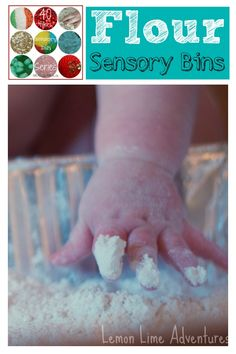 Fabulous Flour Sensory Bins: Part of 40 Days of Sensory Bin Fillers... Some great ideas all in one place! Come Link up your Flour Sensory Bins
