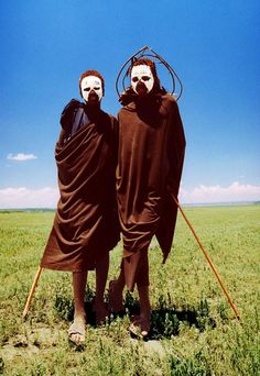 Two young Massai warriors