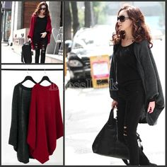 New Fashion Women's Long Hitz Loose Cashmere Shawl Sweater Coat