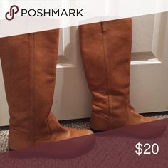 BDG Riding boots Cognac riding boots! Originally bought from Urban outfitters. Have a few scratches at the toe but no huge damage. Look good with everything BDG Shoes Winter & Rain Boots