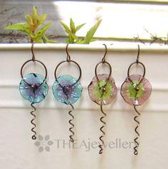 Flower tendtil earring tutorial by Lesley Watt of THEA Jewellery http://artjewelryelements.blogspot.co.uk/2014/04/flower-tendril-earring-tutorial.html