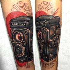 Rolleiflex tattoo by Javier Franco