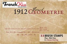 1912 French Geometrie Brushes