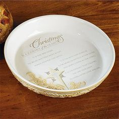 Christmas is a Journey  Ceramic Pie Plate : 12 inch pie plate - pezcame.com