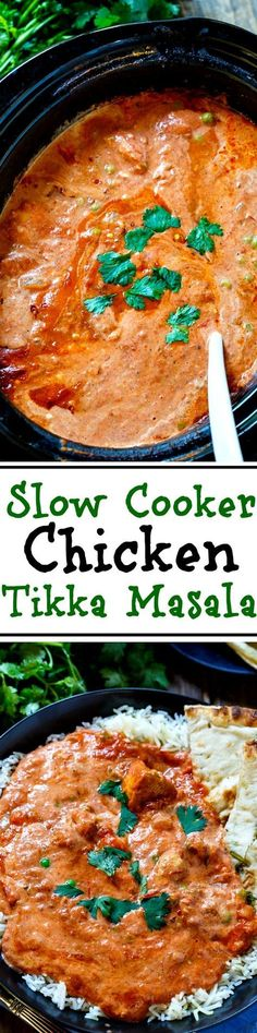 With this easy recipe you can enjoy one of your Indian… Slow Cooker Tikka Masala. With this easy recipe you can enjoy one of your Indian restaurant favorites at home. Crock Pot Slow Cooker, Crock Pot Cooking, Slow Cooker Chicken, Slow Cooker Recipes, Cooking Recipes, Easy Recipes, Milk Recipes, Recipes Dinner, Crock Pots