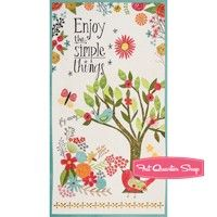 Believe You Can Multi Enjoy the Simple Things Quilt Panel <br/>SKU