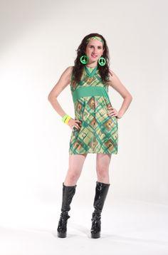 70`s Vestido verde