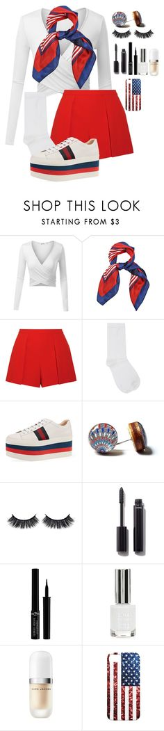 """""""Happy late 4th!!"""" by mfr-mtz ❤ liked on Polyvore featuring Alice + Olivia, M&Co, Gucci, Battington, Chanel, Giorgio Armani, Topshop and Marc Jacobs"""