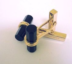 Tiffany & Co. Cuff Links Black Onyx  by STUNNINGCOLLECTIBLES