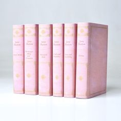 A set of Jane Austen books bound in pink leather!