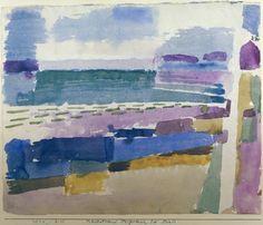 P.Klee, Badestrand St.Germain bei Tunis - -
