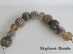 Jesses James 7 inch Bead Strand / Fancy Family / by SkylineBeads, $4.65